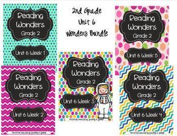 Reading Wonders Grade 2 Unit 6 Bundle (All 5 Weeks!)