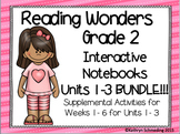 Reading Wonders Grade 2 Units 1, 2, and 3 Int. Notebook/Anchor Charts BUNDLE