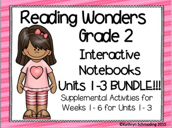 Reading Wonders Grade 2 Units 1, 2, and 3 Int. Notebook/An