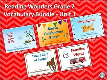 Reading Wonders Grade 2 Vocabulary Bundle Unit 1