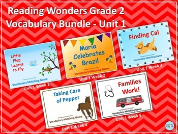 Reading Wonders Grade 2 Vocabulary Bundle Unit 1