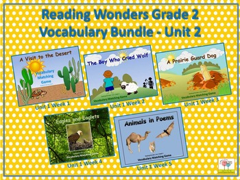 Reading Wonders Grade 2 Vocabulary Bundle Unit 2