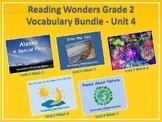Reading Wonders Grade 2 Vocabulary Bundle Unit 4