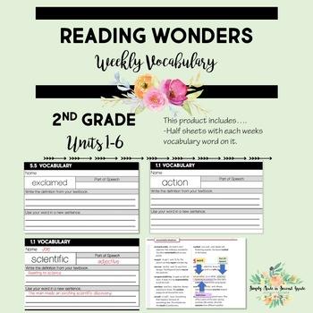 Reading Wonders Grade 2 Vocabulary Definition Supplement