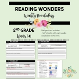 Reading Wonders Grade 2 Vocabulary Definition Supplement