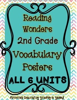 Reading Wonders Companion Grade 2 Vocabulary Poster BUNDLE (Units 1-6)