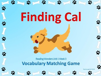 Reading Wonders Grade 2 Vocabulary Unit 1 Week 3