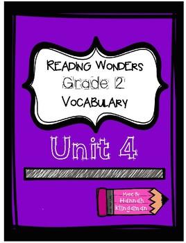 Reading Wonders- Grade 2- Vocabulary-Unit 4