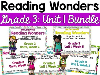 Reading Wonders Grade 3 {Unit 1 Bundle}