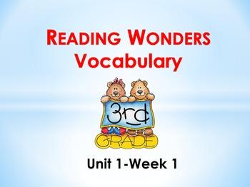 Reading Wonders Grade 3-Unit 1 Vocabulary PowerPoints