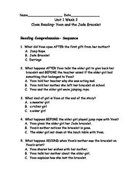 Reading Wonders Grade 3 Unit 1 Week 2 Comprehension Worksheets