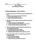 Reading Wonders Grade 3 Unit 1 Week 4 Comprehension Worksheets