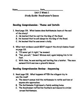 Reading Wonders Grade 3 Unit 2 Week 1 Comprehension Worksheets