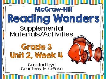 Reading Wonders Grade 3 {Unit 2,Week 4}