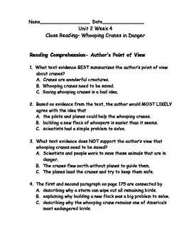 Reading Wonders Grade 3 Unit 2 Week 4 Comprehension Worksheets