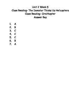 Reading Wonders Grade 3 Unit 2 Week 5 Comprehension Worksheets