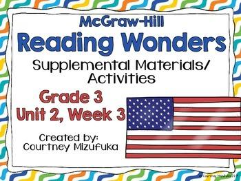 Reading Wonders Grade 3 {Unit 2,Week 3}
