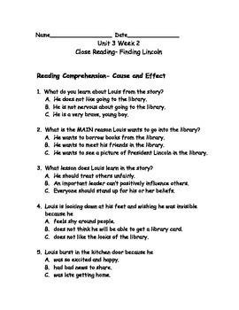 Reading Wonders Grade 3 Unit 3 Week 2 Comprehension Worksheets
