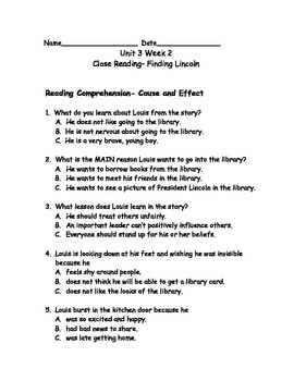 Reading Wonders Grade 3 Unit 3 Week 2 Comprehension Worksheets