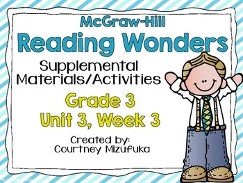 Reading Wonders Grade 3 {Unit 3, Week 3}