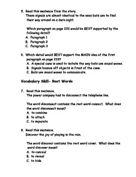 Reading Wonders Grade 3 Unit 3 Week 4 Comprehension Worksheets