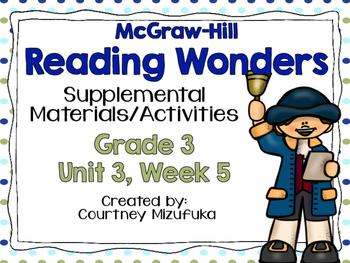 Reading Wonders Grade 3 {Unit 3, Week 5}