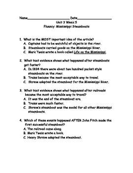 Reading Wonders Grade 3 Unit 3 Week 5 Comprehension Worksheets