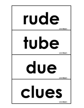 Reading Wonders Grade 3 - Unit 4 Spelling Cards
