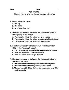 Reading Wonders Grade 3 Unit 4 Week 1 Comprehension Worksheets