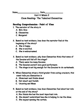 Reading Wonders Grade 3 Unit 4 Week 2 Comprehension Worksheets