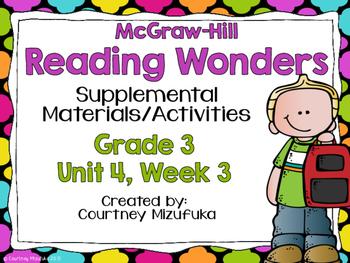 Reading Wonders Grade 3 {Unit 4, Week 3}