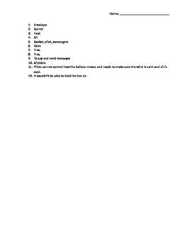 Reading Wonders Grade 3 Unit 4 Week 3 Flight Assessment