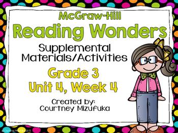 Reading Wonders Grade 3 {Unit 4, Week 4}