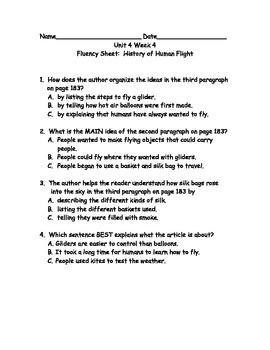 Reading Wonders Grade 3 Unit 4 Week 4 Comprehension Worksheets