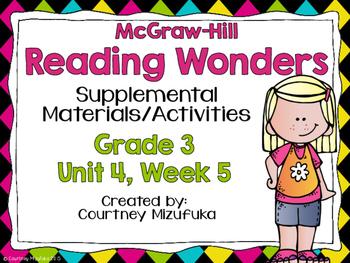 Reading Wonders Grade 3 {Unit 4, Week 5}