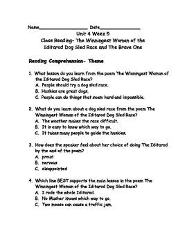 Reading Wonders Grade 3 Unit 4 Week 5 Comprehension Worksheets
