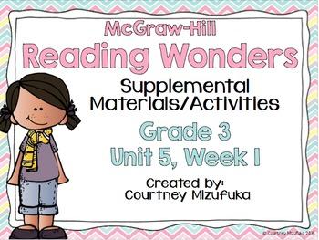 Reading Wonders Grade 3 {Unit 5, Week 1}