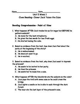 Reading Wonders Grade 3 Unit 5 Week 1 Comprehension Worksheets