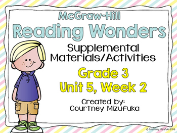 Reading Wonders Grade 3 {Unit 5, Week 2}