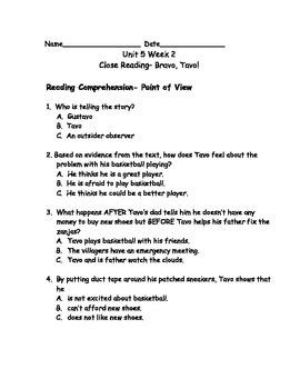 Reading Wonders Grade 3 Unit 5 Week 2 Comprehension Worksheets