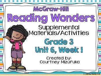 Reading Wonders Grade 3 {Unit 6, Week 1}