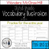 Reading Wonders Grade 3 Vocabulary Illustration Work