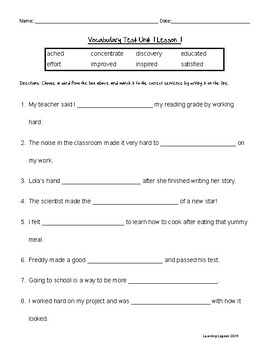 Reading Wonders Grade 3 - Vocabulary Test BUNDLE
