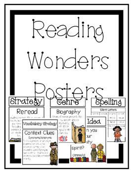 Reading Wonders Focus Wall Posters Grade 4 Unit 3
