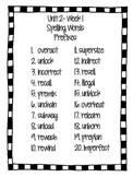 Reading Wonders- Grade 4- Unit 2- Spelling Words