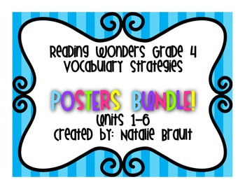 Reading Wonders Grade 4 Vocabulary Strategy Posters Bundle!