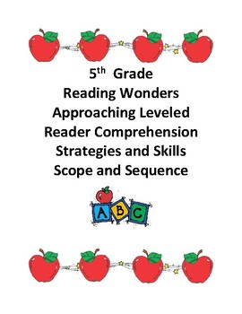 Reading Wonders Grade 5 Approaching Level Comprehension Scope and Sequence