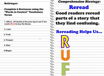 Reading Wonders: Grade 5 Unit 1 Mini-Lesson 1 Reread