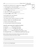 Reading Wonders Third Grade Grammar Quizzes Units 4-6