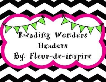 Reading Wonders Headers
